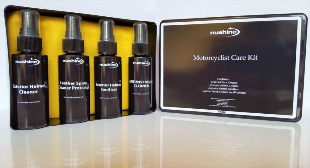 Nushine Motorcyclist Care Kit for Helmet and Leathers - ideal gift! (Eco-friendly)